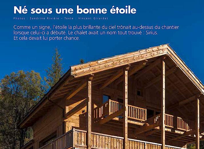 Chalet Sirius par lombard Vasina constructeur de chalets dans les Hautes Alpes
