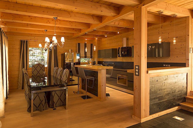 Nos chalets en images lombard vasina for Decoration de chalet