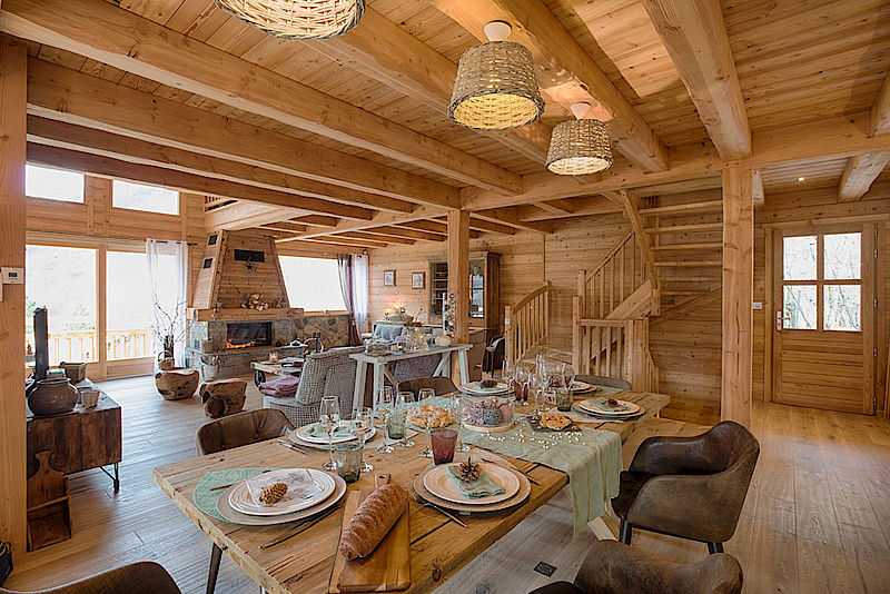 Decoration interieur chalet bois great dcoration cuisine for Deco interieur chalet montagne