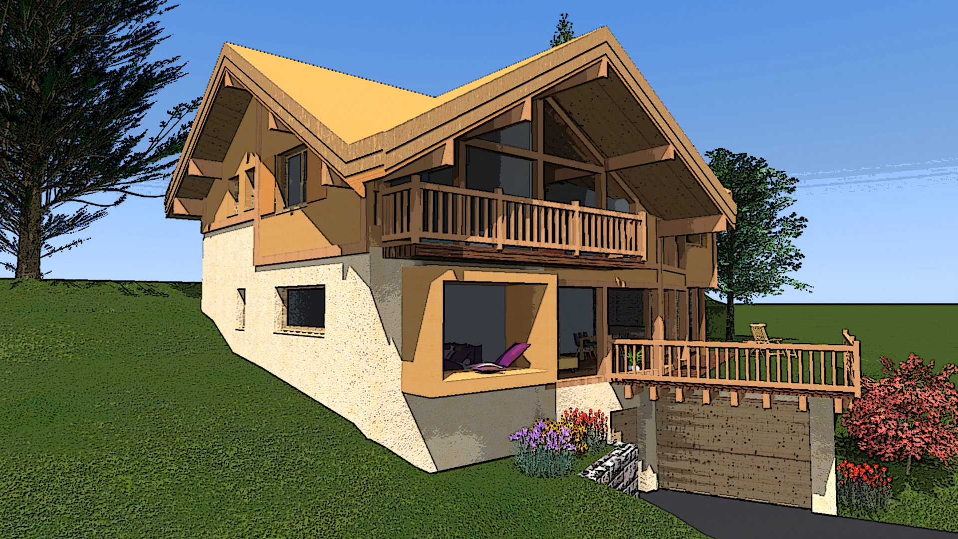 vente sur plan avec terrain lombard vasina. Black Bedroom Furniture Sets. Home Design Ideas