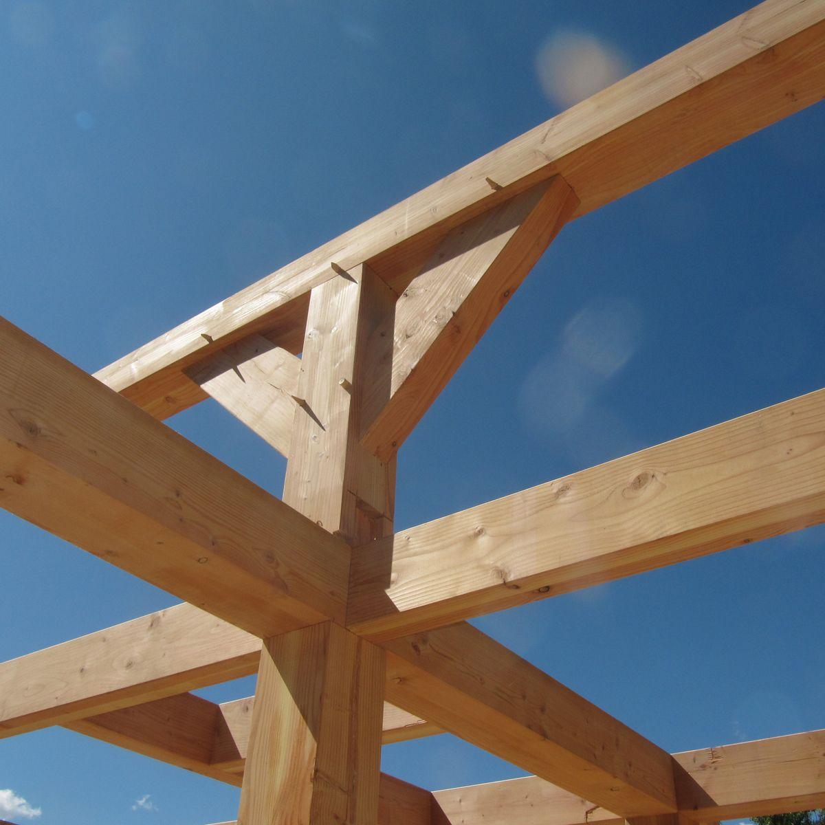 Assemblage poteau poutre bois rev tements modernes du toit for Constructeur de maison en bois poteau poutre
