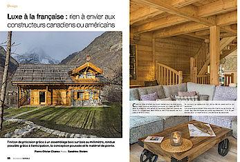 Article Architecture Durable Luxe à la française chalet Lombard Vasina Printemps 2016